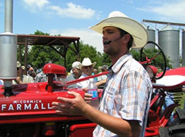 Tractor show auction with Luke Bott